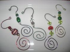 swirled bead photo ornament hooks 12 beaded hangers ornament