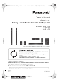 panasonic home theater manual panasonic sc btt465 user manual 48 pages also for sc btt405