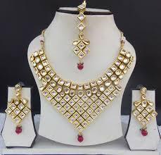 necklace sets designs images Red and gold designer wedding bridal kundan jewellery necklace set jpg