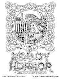 alan robert u0026 u0027the beauty of horror ii u0027 coloring book interview