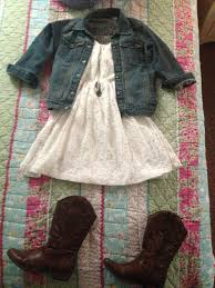 love the jean jacket and white dress what to wear pinterest