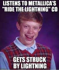 Cd Meme - listens to metallica s ride the lightning cd gets struck by