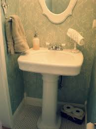 Narrow Powder Room - kohler bancroft in powder room traditional with toilet paper