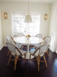 Blue And White Dining Chairs by Kitchen Casual Kitchen And Dining Room Design Ideas With Round