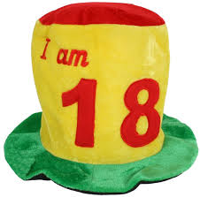 birthday hat 18th birthday fabric top hat in bright colours