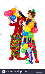 clowns balloons clowns with balloons stock photo royalty free image