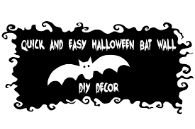 quick and easy halloween bat wall diy decor the styled child