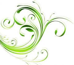 green swirls ornament nature vector vector free