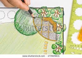 Backyard Plan Landscape Plan Stock Images Royalty Free Images U0026 Vectors