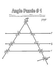 parallel lines cut by a transversal printable missing angle