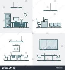 office meeting conference room cabinet table stock vector