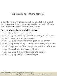 mail clerk resume unforgettable accounting clerk sampleresume