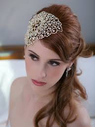 gold headpiece gold bridal headpiece deco beaded