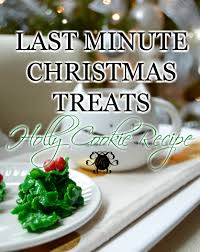 last minute christmas treats holly cookie recipe kelley nan