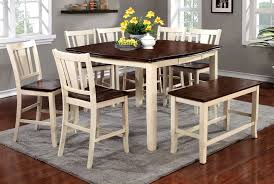 counter height dining room table sets buy furniture of america cm3326wc pt set dover ii white cherry