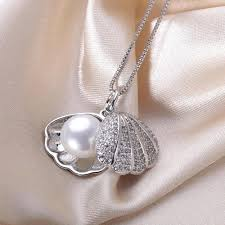 shell pearl necklace wholesale images Wholesale lindo brand new shell pendant necklace high quallity 9 jpg