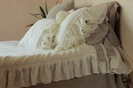 luxurious duvet cover vintage style with ruffles 3 sides
