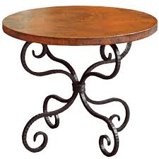 alexander wrought iron end table with 30in round top timeless
