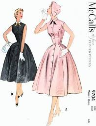 dress pattern fit and flare 1950s lovely princess seam fit n flare dress pattern mccalls 9704