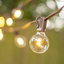globe string lights brown wire globe string lights 1 5 in glass led c7 bulbs 10ft brown wire
