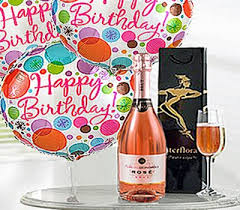 wine birthday gifts birthday gift set a delicious celebrationry sparkling rosé wine