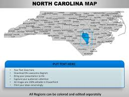 usa carolina map usa carolina state powrpoint county editable ppt maps and templ