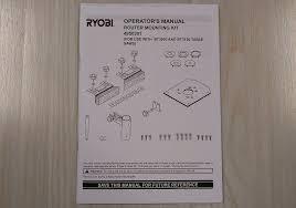 Ryobi Table Saw Manual Ryobi 4950301 Router Mounting Kit For Bt3000 And Bt3100 Ebay