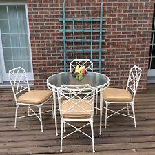 Vintage Brown Jordan Outdoor Furniture by Antique Bistro Table Ebay