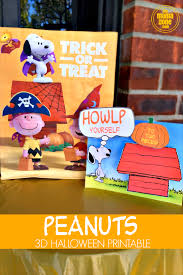 Halloween Candy Bags Craft by Printable Peanuts Halloween Craft U0026 Free Trick Or Treat Bags