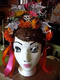 day of the dead headband dia de los muertos headband day of the dead headpiece flower