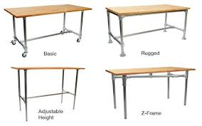 build your own industrial desk with simple table simplified building