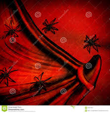 spiders on red halloween background royalty free stock photography