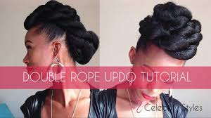updo hairstyles with big twist hair tutorial easy double rope updo with kankekalon jumbo braid