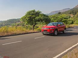 jeep compass lifted jeep compass petrol at official review team bhp