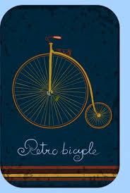 retro bicycle background big wheel small wheel ornament free