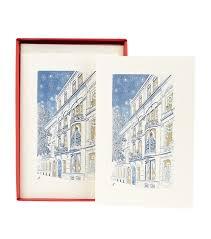 original crown mill festive street scene christmas cards pack of