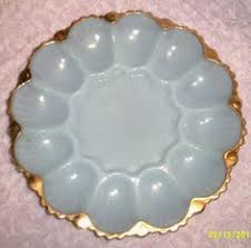 white deviled egg plate vintage anchor glass deviled egg plate white gold trim king