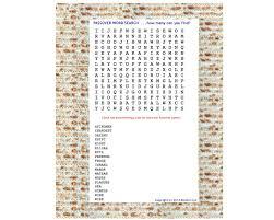 passover word search passover bingo