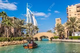 dubai uae november 23 view at burj al arab hotel from madinat