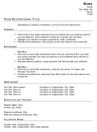 resume examples template for a functional resume chronological