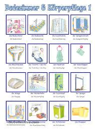 Badezimmer Auf Englisch Badezimmer U0026 Kã Rperpflege 1 Easy German Pinterest Learn