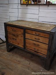 bureau metal et bois grand etabli industriel bureau metal et bois wood and woods