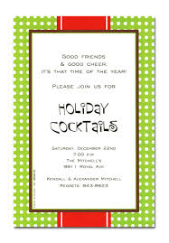 unique custom holiday cocktails party invitation card design with