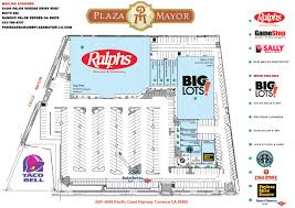Centre Bell Floor Plan Plaza Mayor Torrance Site Plan And Tenant List