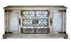 Repainting Wrought Iron Furniture by Hand Painted Wrought Iron Buffet Wine Cabinet Furniture Finds U0026 More