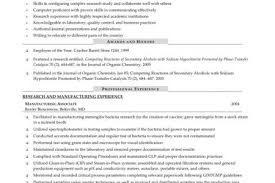Microbiologist Resume Sample by Clinical Research Project Manager Cover Letter