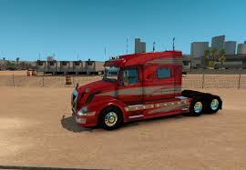 red volvo truck volvo vnl 730 red fantasy for vnl truck shop skin ats mod
