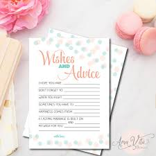 Wedding Wishes And Advice Cards Wedding Wishes For Bride Bridal Shower Wishes And Advice For The