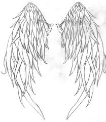 wing tattoos on back wings cross outline tattoo on back photos pictures and sketches