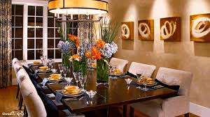 simple fall centerpieces 6 seat dining table glass and wood dining